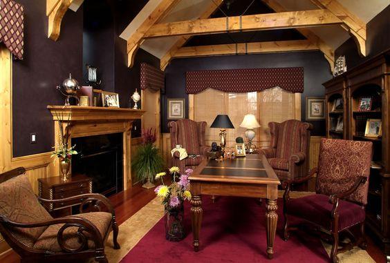 Scholz Design's Binghampton, Home Plan 55227 Office / Den / Library