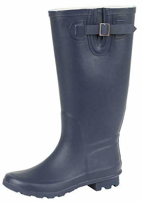 WOMENS TWO TONE WELLINGTON BOOTS WIDE CALF WELLIES SHOES LADIES SIZE UK 3-8