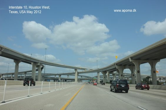 Interstate 10, Houston West, Texas, USA May 2012