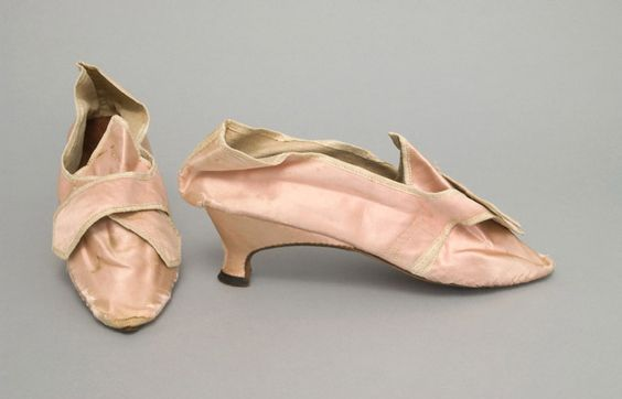 Philly MofA  silk shoes, 1770-90  United States