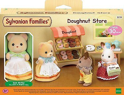 Sylvanian-Families-Doughnut-Store-Set-5239-Includes-Mother-Bear-30-piece-set