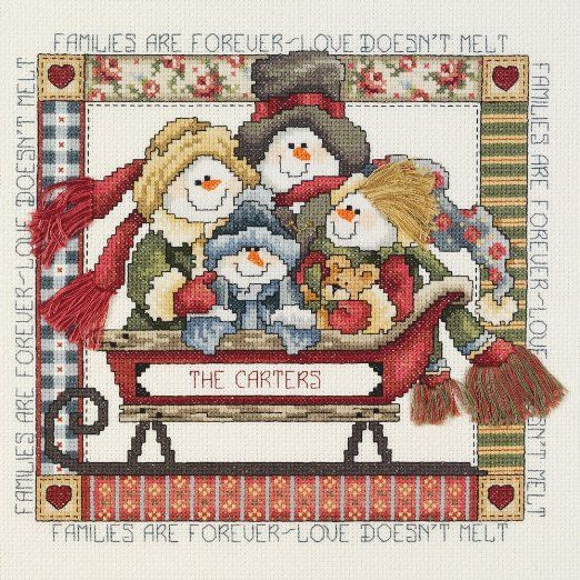 Janlynn Cross Stitch Kit, Families are Forever