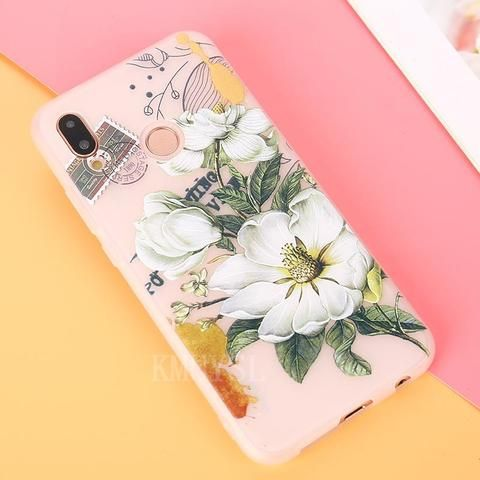 Relief Flower Phone Cover For Huawei P20 Lite P20 Pro P20 Case ...