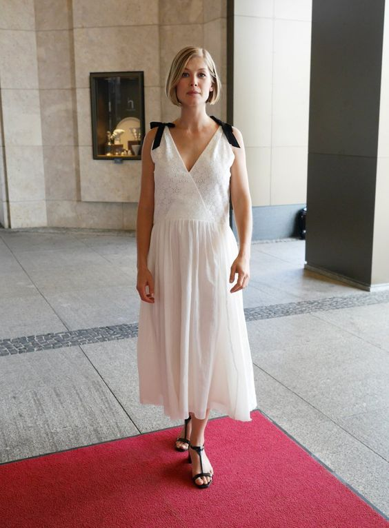 Pin for Later: From Bond Girl to Gone Girl: How Rosamund Pike Won the Award Season Red Carpet On the Street in Berlin