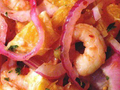 Shrimp, Orange, and Onion Salad - Feeding My Enthusiasms