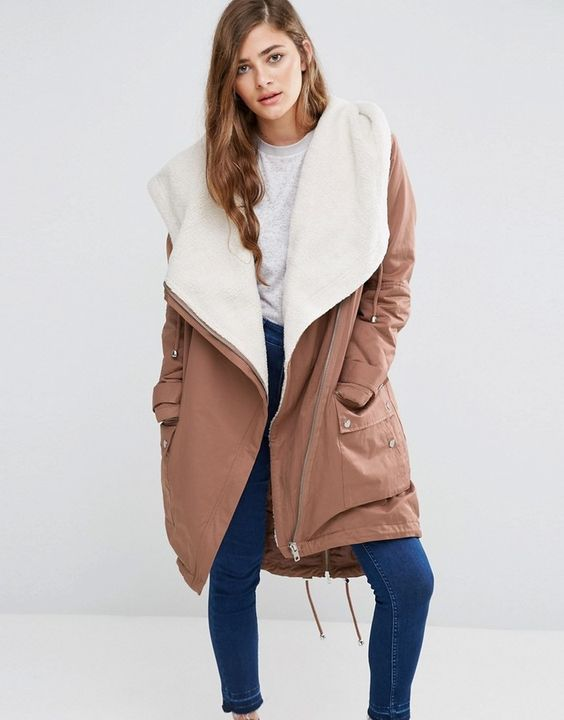 This cozy parka by ASOS Collection is so chic.