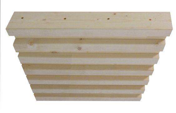 TAVEGO STACK-S  Nail Laminated Timber (NLT)   Pannello per solai prefabbricati realizzato utilizzando travetti KVH o tavole C24, connesse con viti in acciaio inox.