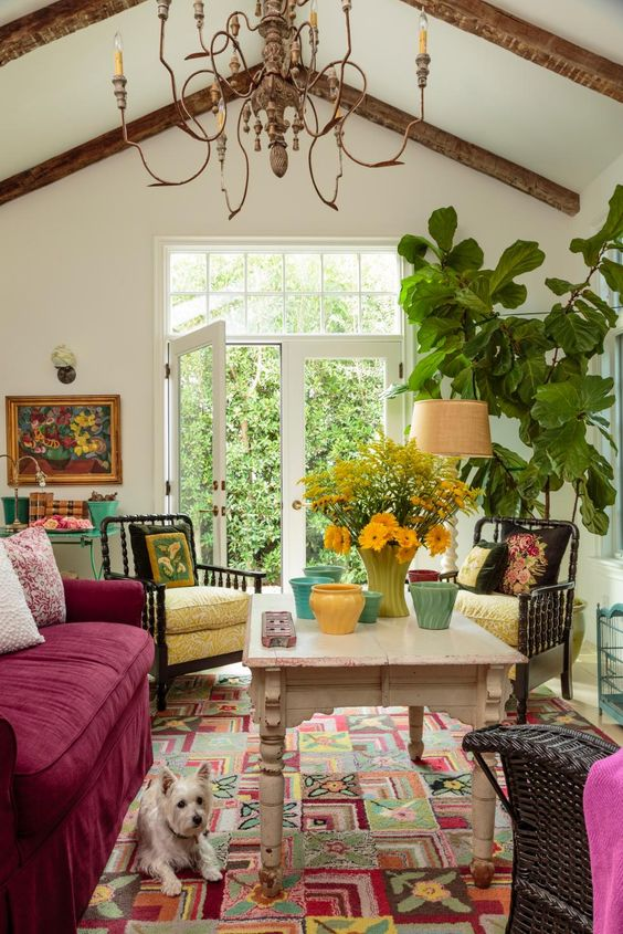 HGTV: This country-style house has modern-day style thanks to designer Alison Kandler's use of bold patterns, colors and textures throughout.