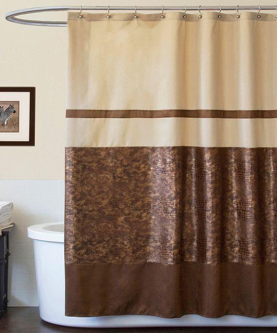 Brown Croc Shower Curtain