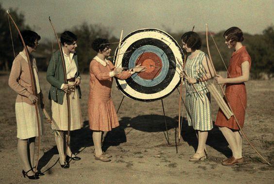 vintage archery at University of Texas