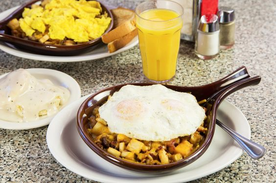 Try our BYO breakfast skillets! www.5anddiner.com  5 & Diner Restaurants | Food, Fun, Fifties! - Food*Fun*Fifties