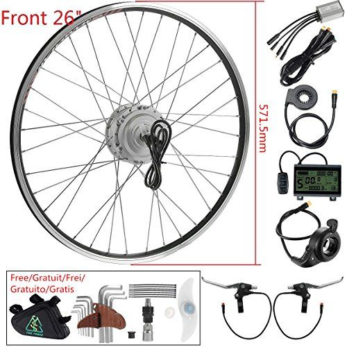 36v250w 26 Front Wheel Electric Bicycle Hub Motor Kit E Bike Conversion Kit For Electric Bike Best Electric Bikes Electric Bicycle Ebike