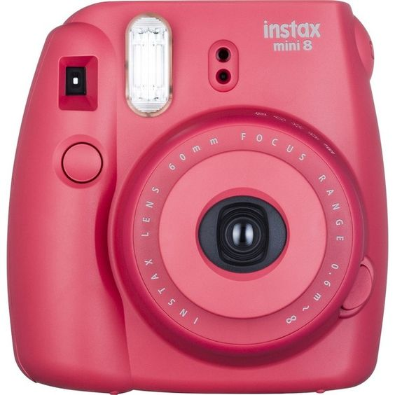 Fujifilm instax Mini 8 Instant Film Camera Raspberry (€62) ❤ liked on Polyvore featuring accessories and fujifilm