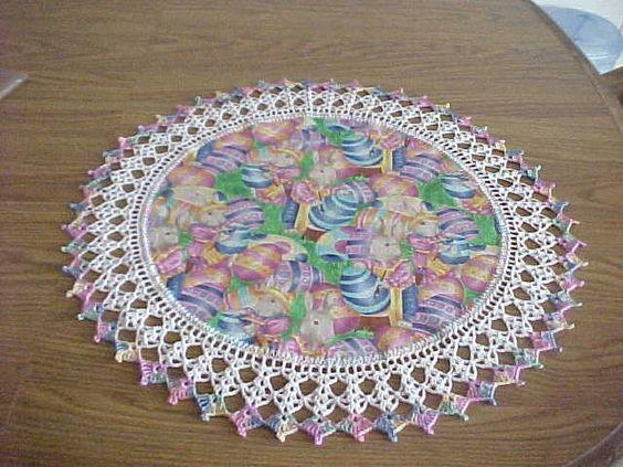 Crocheted Easter Doily