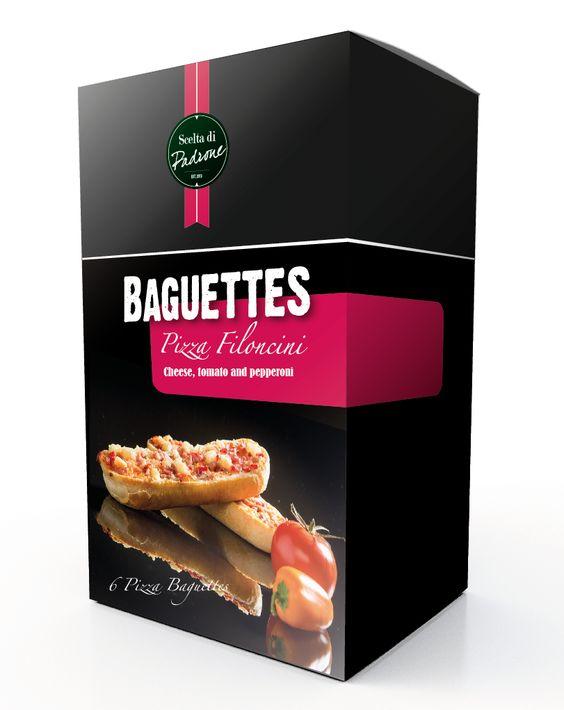 Ontwerp/concept door buro VH, verpakking iov Fugers Food Group Italian look