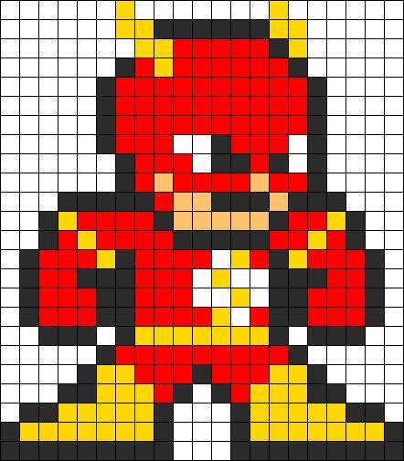 13039_flash_perler_bead_pattern.png (442×505):