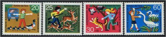Germany 1972 Youth Welfare Stamp Set.