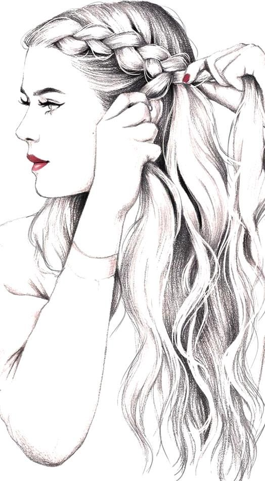 Girls Hair Drawing Visit My Youtube Channel To Learn Drawing And Coloring In 2020 How To Draw Hair Girl Hair Drawing Beauty Drawings
