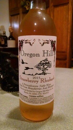 Oregon Hill Strawberry Rhubarb Wine