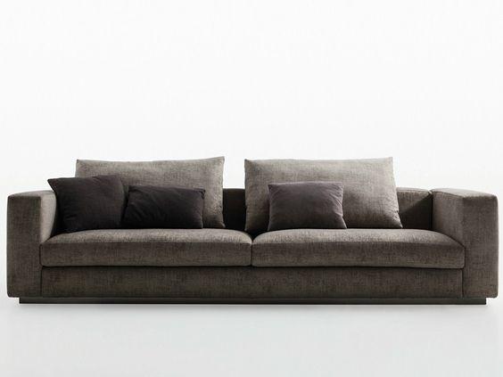 canapé rembourré 3 places Reversi' 14, design Hannes Wettstein, collection Reversi fabricant Molteni & C.