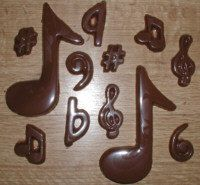 Music Note Assortment Chocolate Mold by ChocoMolds on Etsy, $1.99