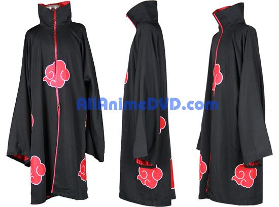 Hi quality satin lined Akatsuki robe.... um yes... it will be mine!!!!