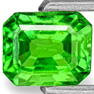0.96-Carat Vivid Neon Green Eye-Clean Kenyan Tsavorite Garnet