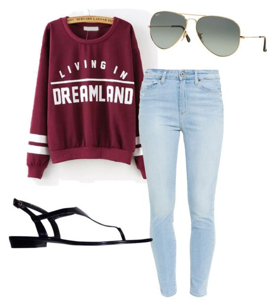 """""""..."""" by cornelius-amaya on Polyvore featuring Paige Denim, Ray-Ban and Ralph Lauren"""