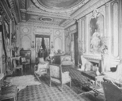Cornelius Vanderbilt II Mansion. NYC. The Petit Salon's fireplace had a picture of Gertrude Vanderbilt.