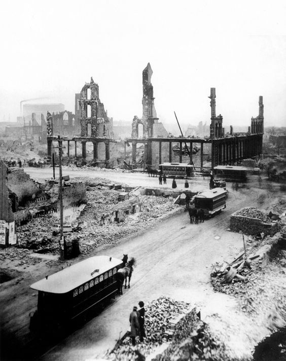 the events of the great chicago fire One year later, disaster struck with the great chicago fire laying the city in ashes the fire destroyed about 17450 buildings.