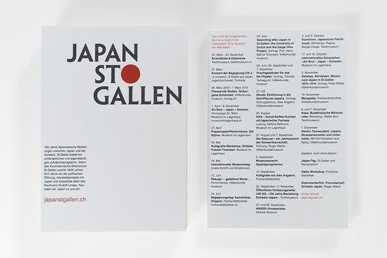 Logo und Flyer für das Jubiläum JAPAN ST.GALLEN