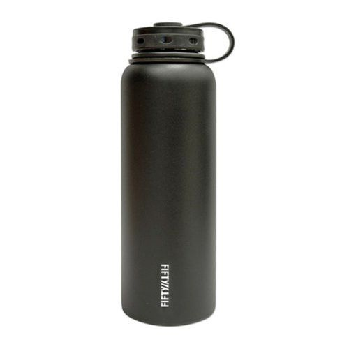 Fifty/Fifty Double-Walled Vacuum-Insulated Bottle (40 oz) - Multiple Colors