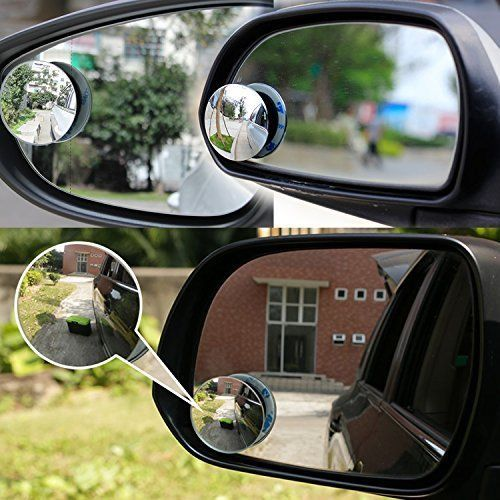 Blind Spot Mirror 2 Round Hd Glass Frameless Fit For Cars Suv Truckr Motorcycle Ampper Blind Spot Mirrors Car Accessories Car Mirror