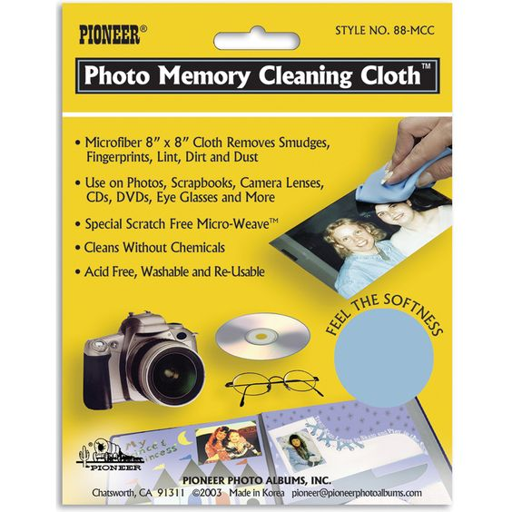 Pioneer Photo Memory Cleaning Cloth8inX8in