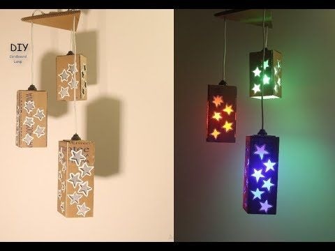 How To Make A Starry Cardboard Lampshade Cardboard Craft Idea