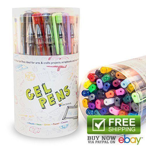 Technik Gel Pens Set 40 Best Assorted Colors Ink Rollerball Adult Coloring Books ColorTechnik
