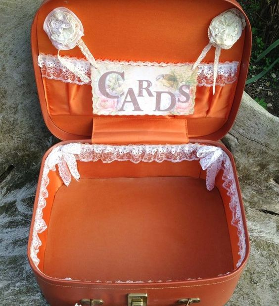 Wedding Vintage Vanity Case card holder- shabby chic style £47.00