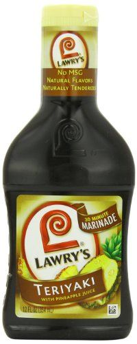 Lawry's 30-Minute Marinade, Teriyaki with Pineapple Juice, 12-Ounce Bottles (Pack of 6) *** Remarkable discounts available  : Baking Desserts recipes
