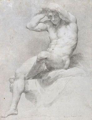 Pompeo Batoni, Academic Nude, 1765: