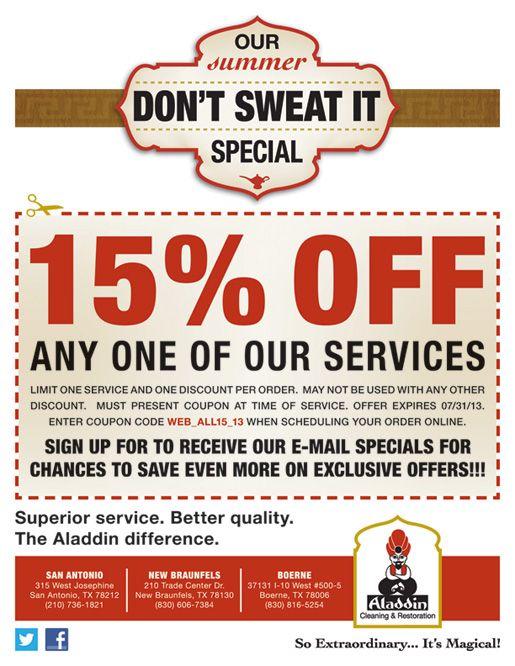 aladdin carpet cleaning san antonio coupons