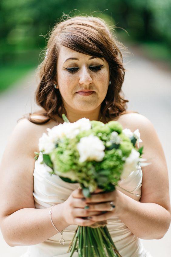 Bride Bridal Make Up Bouquet Flowers Rustic Meets Modern Yellow Green Barn Wedding http://stevenanthonyphotography.co.uk/
