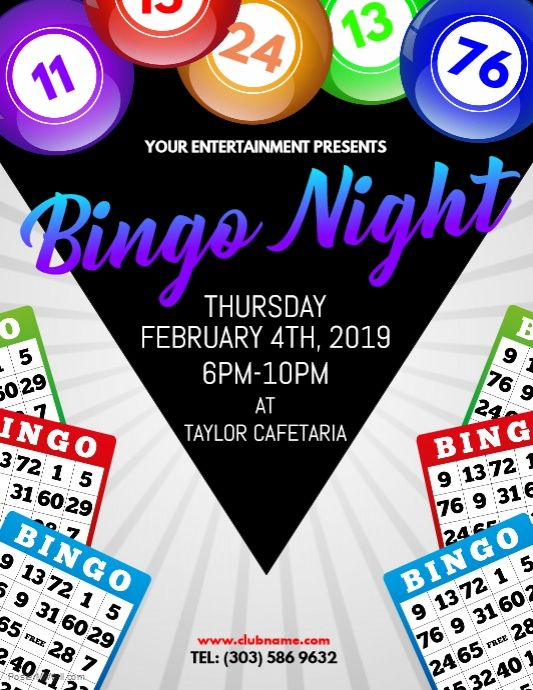 Create The Perfect Design By Customizing Easy To Use Templates In Minutes Easily Convert Your Image Designs Into Videos Or Vi Bingo Night Flyer Template Bingo