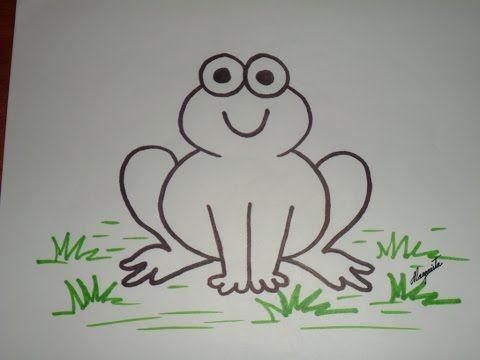 Como Dibujar Un Sapo O Rana Usando Numeros Como Bases Dirigido A Ninos Menores Youtube Desenhos Artesanato Com Palito De Picole Dirigido