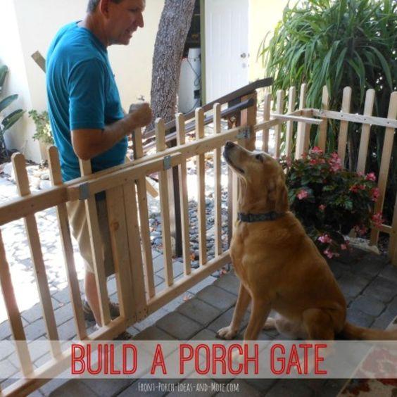 DIY Porch Fence