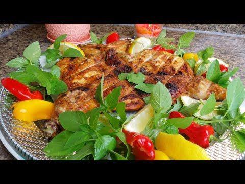 شوي الدجاج طريقه جديده وتتبيله جديده والنتيجه لا توصف قناة مطبخ شاي مهيل Youtube Cooking Food Salad