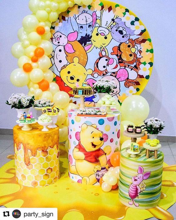 Painel Redondo - Festa Ursinho Pooh
