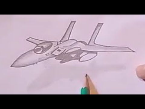 How To Draw A Plane F 16 Step By Step Drawings Peace Gesture Draw