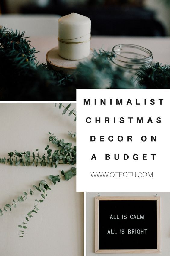 Christmas Decorations || Minimalist Christmas Decor On A Budget || Decorating Your Apartment For Christmas