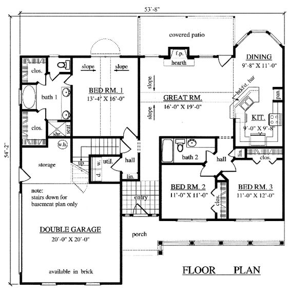 Country House Plan 79294 House plans Bonus rooms and House