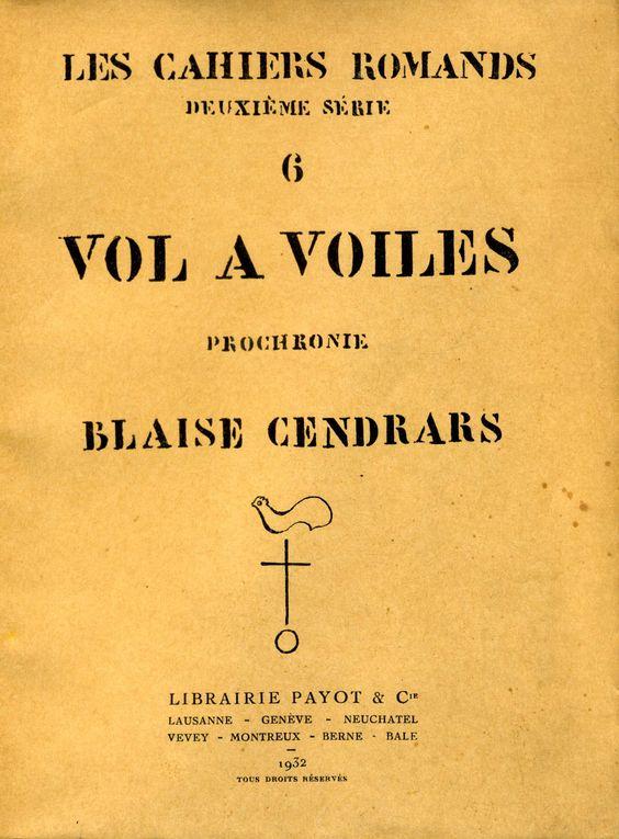 Vol à voile (Prochronie) - Librairie Payot & Cie - 1932